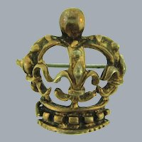 Vintage small figural crown Scatter Pin