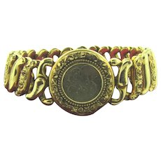 Signed D.F. Briggs Co. antique Carmen Adjustable Bracelet in Original Box initials GB