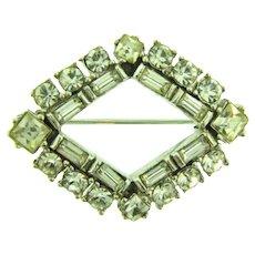 Petite vintage crystal rhinestone Brooch