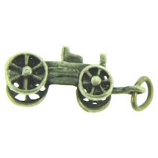 Vintage sterling silver wagon Charm