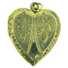 Marked Sterling vermeil vintage heart shaped Locket