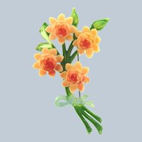 Vintage celluloid large floral Brooch