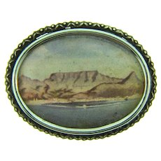 Signed TLM Made in England Scenic design Brooch