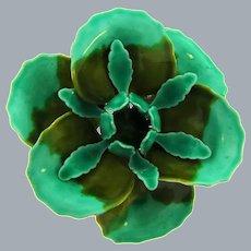 Vintage large enamel on metal flower Brooch