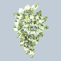 Vintage floral crystal rhinestone Brooch