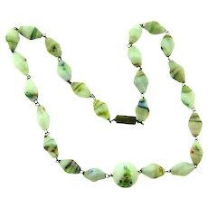 Vintage art glass Bead choker Necklace