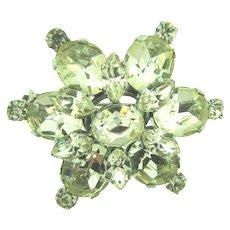 Made in Austria vintage tiered star Brooch with crystal rhinestones