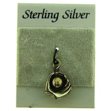 Vintage Sterling Silver baseball and mitt Charm