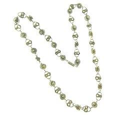 Vintage silver tone link Necklace