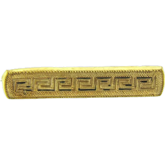 Vintage early gold filled Bar Pin with Greek Key design