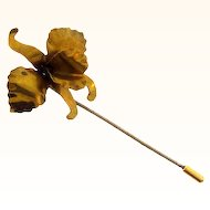 Large Cattleya Orchid vintage stick pin