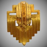 Art Deco gold tone 1940's dress  clip
