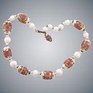 Venetian wedding cake bead choker length Necklace