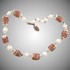 Venetian wedding cake bead choker length Necklace
