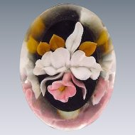Reverse carved Lucite orchid Brooch