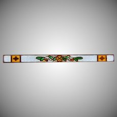 Edwardian guilloche Bar Pin with a floral design