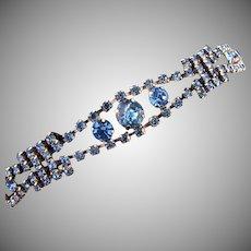 1950's light blue rhinestone Bracelet
