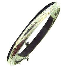marked 925 sterling silver Bangle Bracelet
