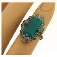 Art Deco crysophase Ring size 4