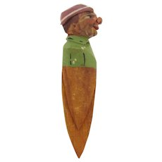 Carved wood folk art Book Page Marker