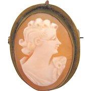 Small vintage shell cameo Brooch/Pendant