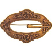 Victorian Sash Pin in a buckle style with swirl design