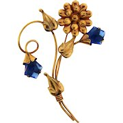 Lovely large gold filled floral Brooch dating to the 1940's