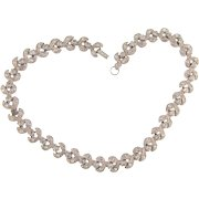 Beautiful vintage crystal rhinestone choker link Necklace