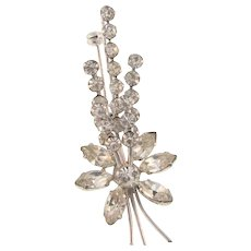 Made in Austria crystal rhinestone floral spray Brooch