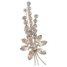 Made in Austria crystal rhinestone floral spray Brooch