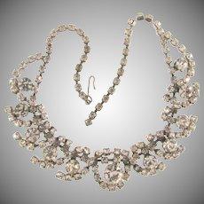 Vintage all crystal rhinestone choker Necklace