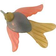Vintage early plastic bird Brooch
