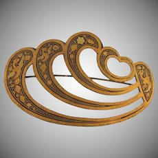 Early damascene large Brooch
