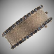 Vintage 1960's wide hinged rhinestone Bracelet