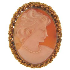 Vintage shell Cameo in a gold filled frame