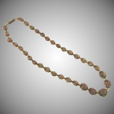 Vintage Venetian with adventurine glass beads Necklace