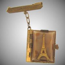 Vintage Souvenir Brooch of Paris with pictures