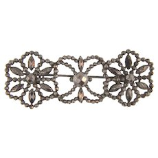 Victorian cut steel Brooch