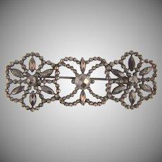 Victorian cut steel Brooch