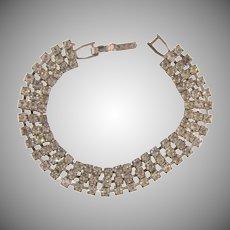 Vintage 3 row crystal rhinestone petite Bracelet