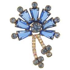 Juliana D&E keystone book piece Brooch in shades of blue