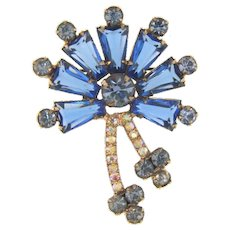 Juliana D&E keystone book piece Brooch in shades of blue