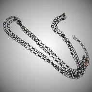 Victorian long woven hair links watch chain