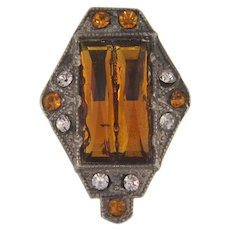 Vauxhall glass small Art Deco Dress Clip