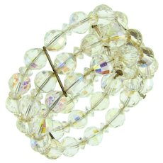 Beautiful memory wire crystal bead Bracelet