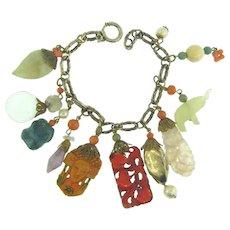 Vintage Asian themed charm Bracelet