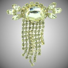 Vintage brilliant Brooch with crystal rhinestones