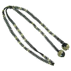 Vintage seed bead lariat Necklace