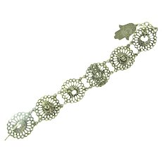 Souenir du Maroc link silver tone Bracelet