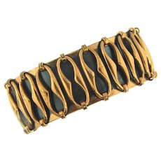 Signed Renoir copper cuff Bracelet with abstract design